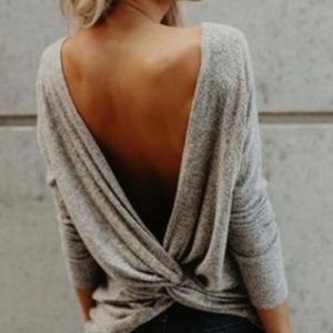 Tops - Open twist back top